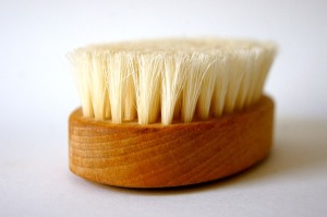 Soft bristle cellulite brush