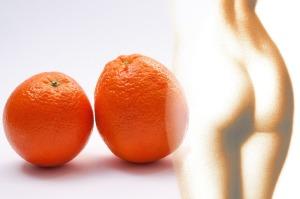Cellulite orange peel texture