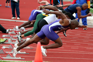 Sprinters with powerful butt