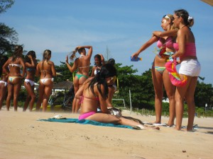 Brazilian butts at the beach
