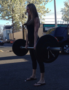 Deadlift butt exercise