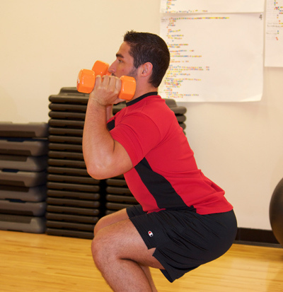 squat with dumbbells