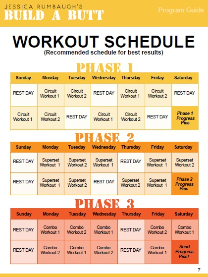 BAB workout schedule