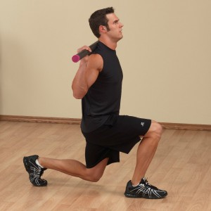body solid bar lunges