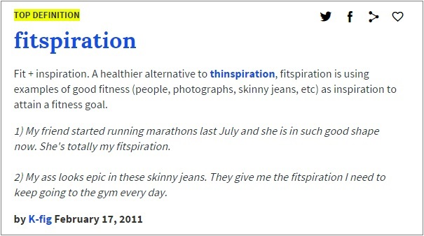 Fitspiration definition