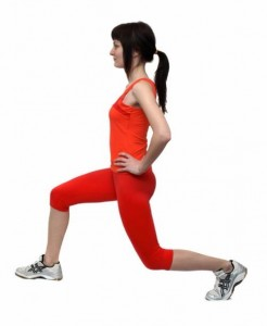 rear lunge butt exercise