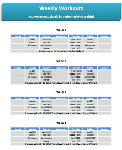 bigger better butt weekly workouts