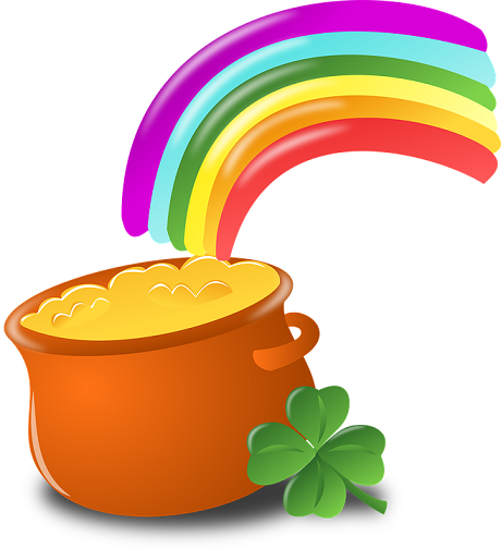 rainbow pot of gold