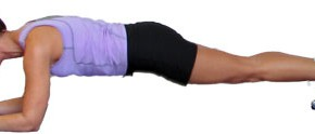 Best Butt Exercises: Plank With Lateral Leg Kicks