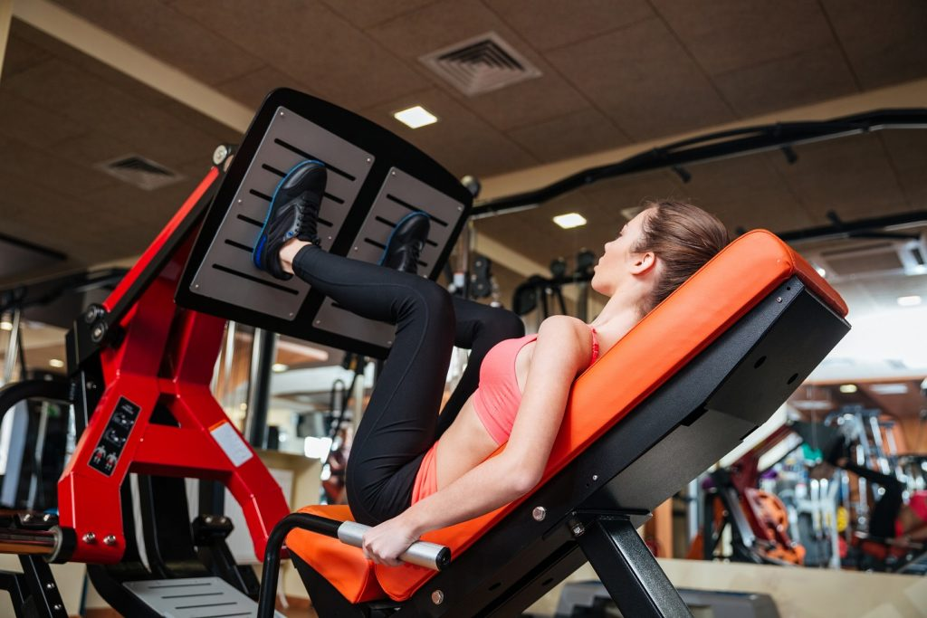 foot position on leg press for glutes
